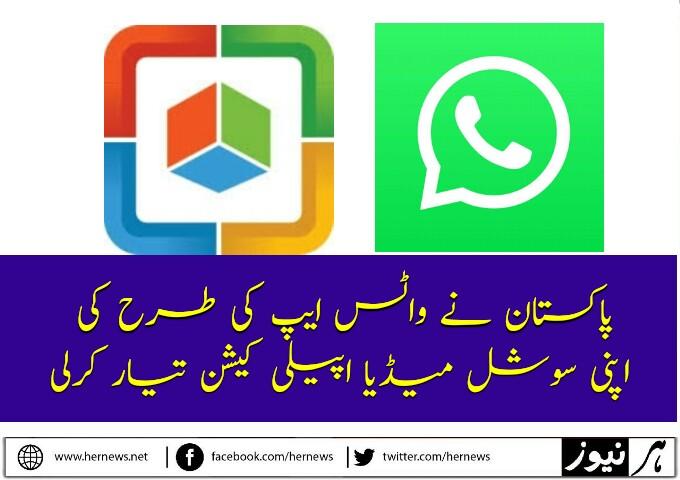 پاکستان نے واٹس ایپ کی طرح کی اپنی سوشل میڈیا اپیلی کیشن تیار کرلی